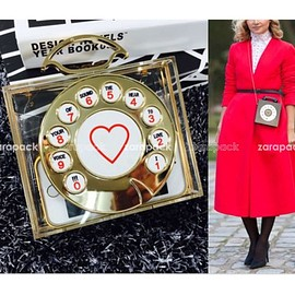 Designer-Runway-Women-Telephone-Clutch-Hard-Case-Clear-Purse-Celebrity-Love
