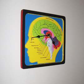 Brain Puzzle Wall Clock