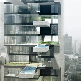 DCPP Arquitectos - Sky Condos tower with cantilevered pools