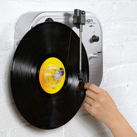 Ion Audio - Vertical Vinyl Wall Mounted Turntable