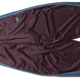 NEEDLES - H.D. Track Pant-Poly Smooth-Bordeaux
