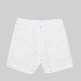 ENGINEERED GARMENTS - Fatigue Short-20's Cotton Twill-White