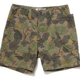 GDC - asymmetry camo short pants