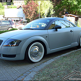 AUDI - mat paint + whitewalls TT coupe Classic