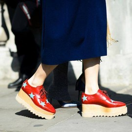 Stella McCartney - Stella McCartney Elyse Stars Alter Nappa Oxford-style Shoes