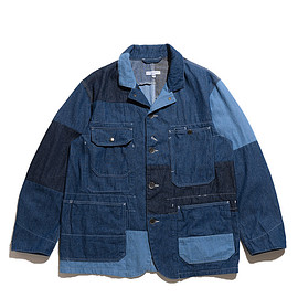 ENGINEERED GARMENTS - Logger Jacket-Washed 8oz Denim-Med Indigo