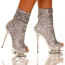 CHANEL - sparkle boots.