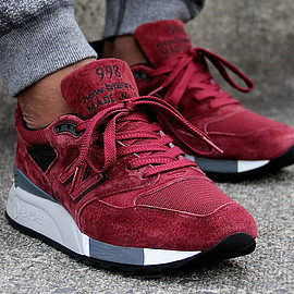 New Balance, Concepts - M998 (Weekend Rivalry Pack) - Deep Burgundy
