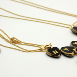 Aquvii - initial Necklace Heart