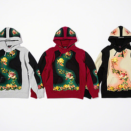 Supreme, Jean Paul Gaultier - Floral Print Hooded Sweatshirt