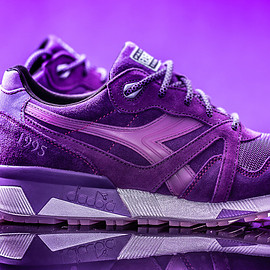 Diadora, Packer Shoes, Raekwon - N.9000 Purple Tape