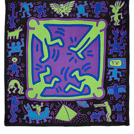 Patricia Field - for Keith Haring cotton mix scarf