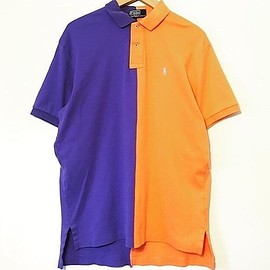 POLO RALPH LAUREN, Dillon Gerstung - Mismatch Polo - Orange/Blue