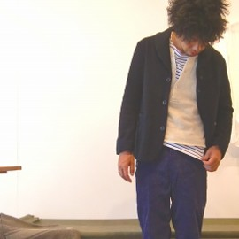 TATAMIZE - Shawll Collar Jacket NAVY (2011 AW)