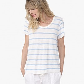 JAMES PERSE - RAW EDGE LINEN STRIPE TEE