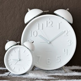 KARLSSON - Ceramic White Alarm Clocks