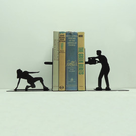 Knob Creek Metal Arts - Chainsaw Attack Bookends