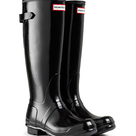 HUNTER - Original Back Adjustable Gloss tall Boots
