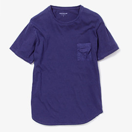 nonnative - DWELLER TEE SS COTTON JERSEY OVERDYED