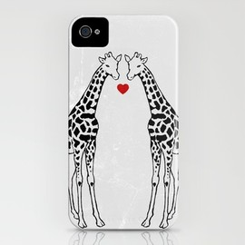Giraffe Love iPhone Case