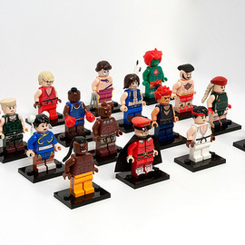 LEGO - Street Fighter 2 minifigs - complete roster