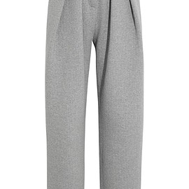 Vika Gazinskaya - Pleated quilted stretch-cotton tapered pants