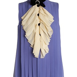 GUCCI - Bow-detail pleated silk top
