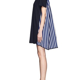 sacai - Stripe back T-shirt dress