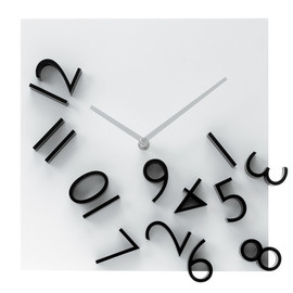 Present Time - KARLSSON Wall clock Falling Numbers