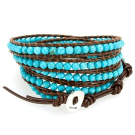 Mixed Turquoise Single Wrap Bracelet