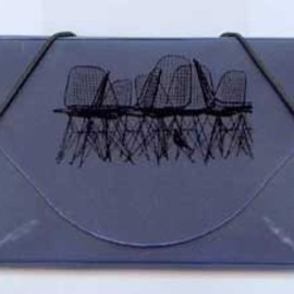 Eames - office stationary / Wire chair card holder
