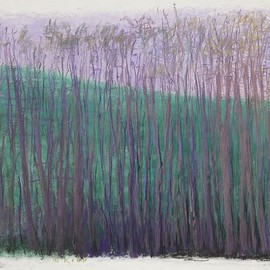 Wolf Kahn - Green and Purple, 1994, pastel on paper