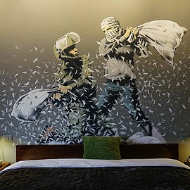 Palestine - Walled Off Hotel by Banksy