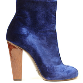 DRIES VAN NOTEN - Velvet Short Boots