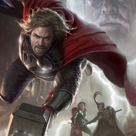 MERVEL - Thor SDCC 2011 exclusive concept art poster