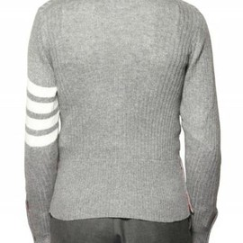 Thom Browne - Light Grey Cashmere Cardigan