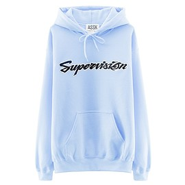 assk - SUPERVISION Hooded Sweatshirt - Blue