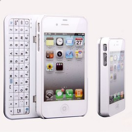Cool new Sliding Bluetooth Wireless Keyboard Hard Cover Case for Iphone4/4s