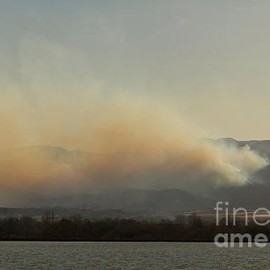 Fine Art America - Lefthand Canyon Wildfire Across the Lake View Canvas Print / Canvas Art - Artist James Bo Insogna