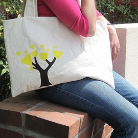 Luulla - The Friendship Bag in Yellow - BKD Signature Original Design - Listing for TWO Linking Totes