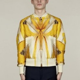 Alexander McQueen - Men's Dragonfly Wings Silk Bomber Jacket