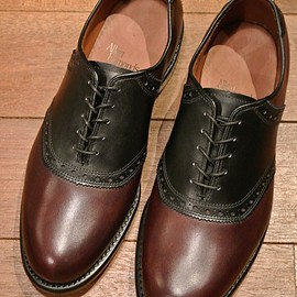 "Allen Edmonds - ""SHELTON"" サドルシューズ Burgundy Black"