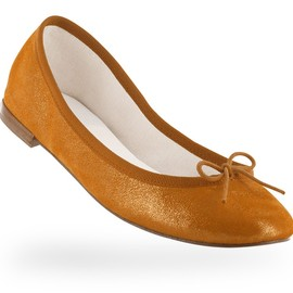 repetto - Ballerina Cendrillon Oil orange Metallic goatskin suede