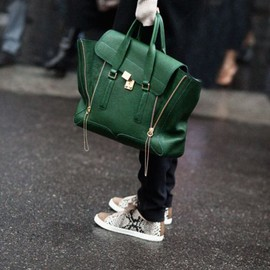 3.1 Phillip Lim - satchel bag / green