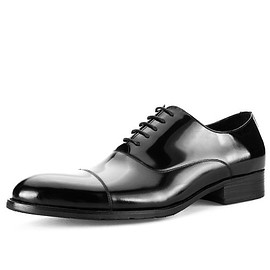 CWMALLS - CWMALLS® Black Leather Oxford Shoes CW716032