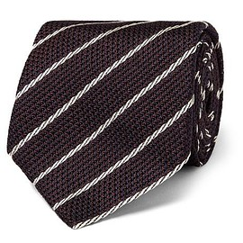 TOM FORD - 9cm Striped Woven Silk Tie