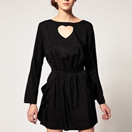 ASOS - Dansk Heart Cut Out Pocket Dress