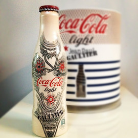 jean paul gaultier, bottle, coca cola, - jean paul gaultier, bottle, coca cola, coca cola light