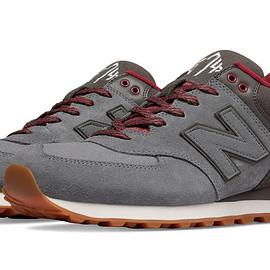 New Balance - New Balance 574 Collegiate, Gunmetal with Raven & Red