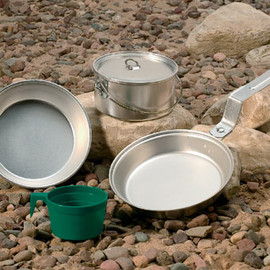 Open Country - Individual 5-Piece Aluminum Mess Kit